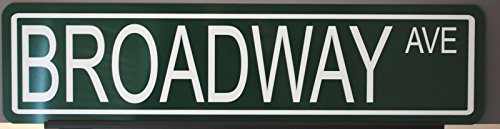 Motown Automotive Design METAL STREET SIGN BROADWAY AVE 6 x 24