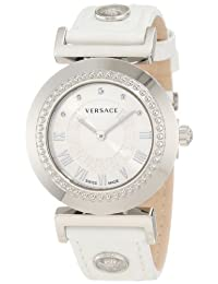 "Versace Women's P5Q99D001 S001 ""Vanitas"" Stainless Steel Watch with Leather Band"