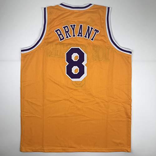 (Unsigned Kobe Bryant #8 Los Angeles LA Yellow Custom Stitched Basketball Jersey Size Men's XL New No Brands/Logos)