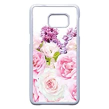 Samsung Galaxy Note 5 Edge Case,Many Rose Pattern Durable Hard Plastic Phone Case,[Flower Series]-White