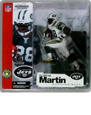 McFarlane Toys NFL Sports Picks Series 4 Action Figure Curtis Martin (New York Jets) White Jersey Variant