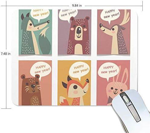 Basics Gaming Mouse Pad Dieren Gelukkig Nieuwjaar Muis Mat Gaming Mouse Pad Computer Keyboard Mouse Pad 984x784x02 in
