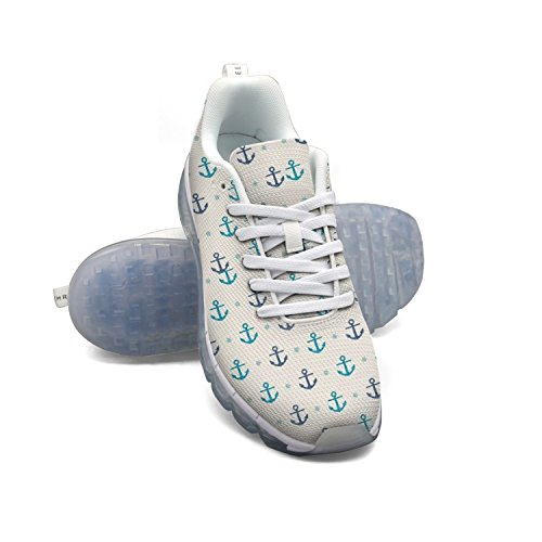 FAAERD Anchor Pattern Women's Breathable Mesh Walking Sneakers Air Cushion Sports Shoes Breathable Athletic Running Shoes sneakernews online 8KHA1YOnX