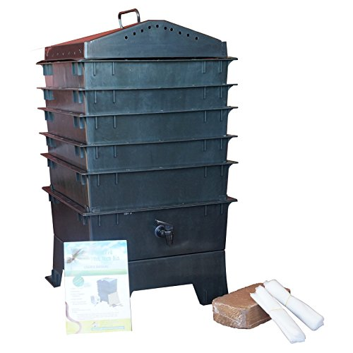 Recycling Plastic Blower : Vermihut tray recycled plastic worm composter lawn