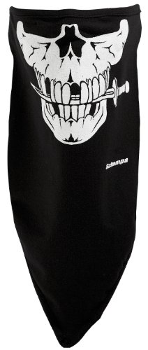 Schampa Jolly Pirate Skull Stretch Facemask (Black, One Size)