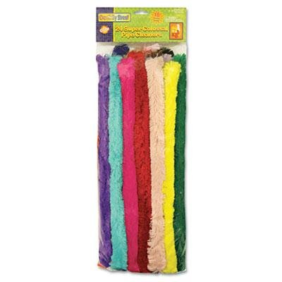 """Chenille Kraft - 2 Pack - Super Colossal Pipe Cleaners 18"""" X 1"""" Metal Wire Polyester 24 Colors """"Product Category: Crafts & Recreation Room Products/Arts & Crafts Supplies"""""""
