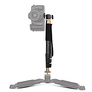 Bestshoot 38 Inch Aluminum Monopod Selfie Stick with Mini Ball Head 4 Sections for Gopro DLSR SLR Camera DV Camcorder Smartphone