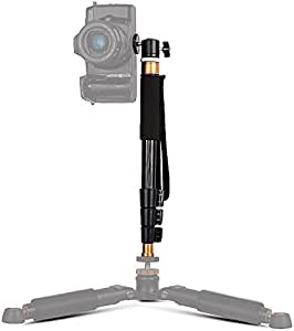 Bestshoot Camera Monopod Selfie Stick, 36 Inch Aluminum Alloy Extendable Pole with 360 Swivel Mini Ball Head 4 Sections