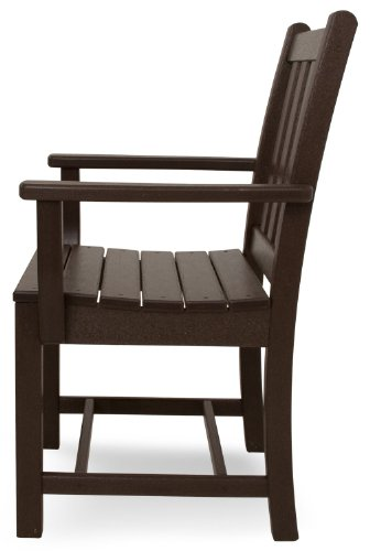 """POLYWOOD PWS134-1-MA Traditional Garden 5-Piece Dining Set, Mahogany - Set includes four TGD200 Traditional Garden Dining Arm Chairs and one RT248 Round 48"""" Dining Table POLYWOOD recycled HDPE lumber has the look of painted wood without the upkeep real wood requires; requires no painting, staining or waterproofing Heavy-duty construction withstands nature's elements; will not splinter, crack, chip, peel or rot- is resistant to stains, insects, fungi, salt spray - patio-furniture, dining-sets-patio-funiture, patio - 41Is%2Bb0ePwL -"""