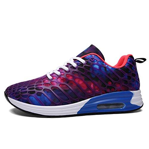 Dannto Heren Dames Loopschoenen Sneakers Sportschoenen Lichtgewicht Wandelschoenen Paars-a