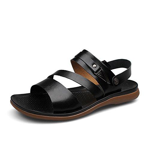 Xing Lin Sandalias De Hombre Sandalias De Verano Flip Flops De Hombres Nueva Marea Zapatos De Hombres Jóvenes De Ocio Suelo Ropa De Trabajo Conjuntos De Zapatillas Puede Ser De Doble Uso black