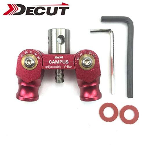 (DECUT Archery Recurve Bow Balance Rod V Bar Anti-Vibration Bar VBA V seat can Multi-Angle Rotation Adjustment Connect)