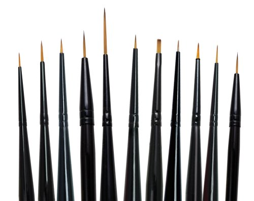 Majestic Royal and Langnickel Short Handle Paint Brush Set, Detail, 11-Piece>
