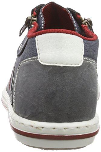 Baskets rauch Hautes Homme Bleu 19012 weiss denim jeans Rieker ZqXwxgE5g