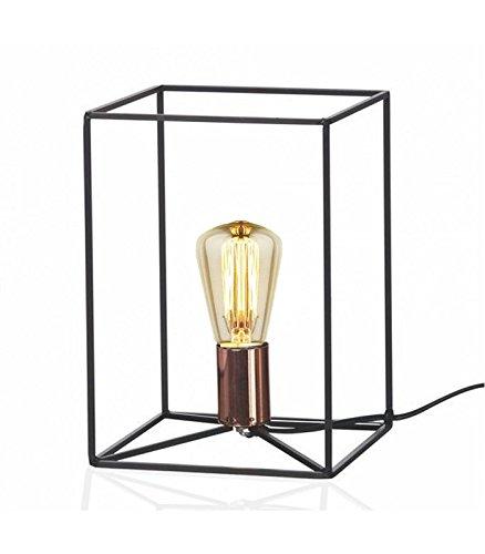 Tischleuchte Cube Struktur aus Metall schwarz