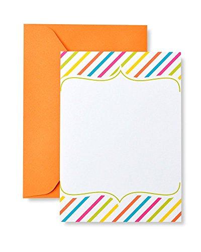 Gartner Studios Bright Stripe Print at Home Invitation Kit, 10 Count