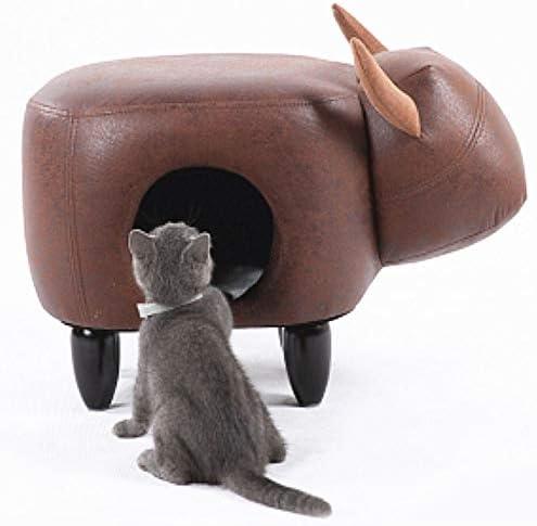 猫用トイレ クリエイティブソファ小さなスツール、リビングルーム猫のトイレの半閉鎖ソファベンチ、動物オスマン帝国(大サイズ) (サイズ : E)