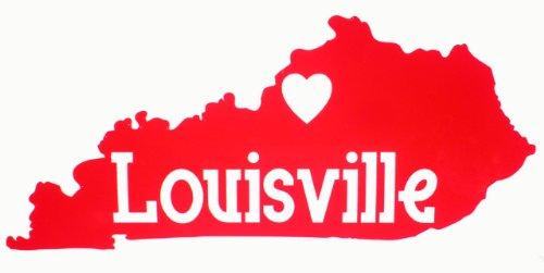 Louisville Kentucky Heart Sticker by U.S. Custom Ink