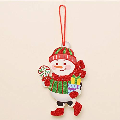 Santa Claus Xmas Ornament Craft Kit/Craft Kits/Christmas Ornaments/Holiday,Christmas Tree Decoration Shiny Merry Letter Card (A) ()