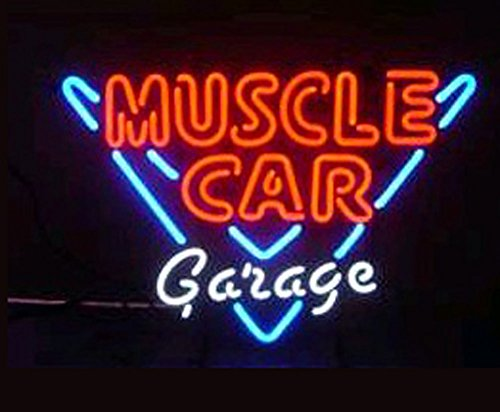 - Cozyle Glass Bright Neon Light Muscle CAR Garage Neon Sign 17