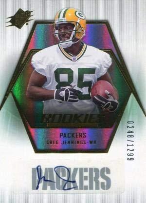 Greg Jennings Autographed 2006 Upper Deck SPx Rookie Card - Football Autographed Rookie -