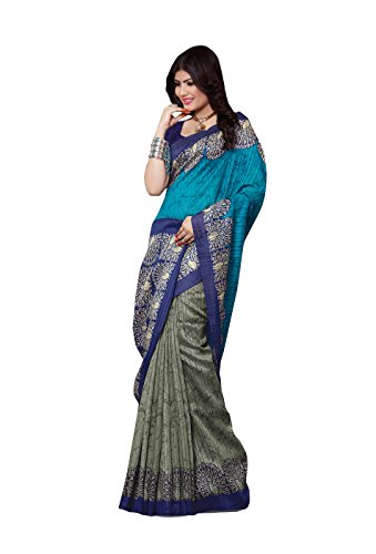 Shonaya-Gray-Colour-Bhagalpuri-Art-Silk-Printed-Saree-With-Unstitched-Blouse-PieceFree-Size