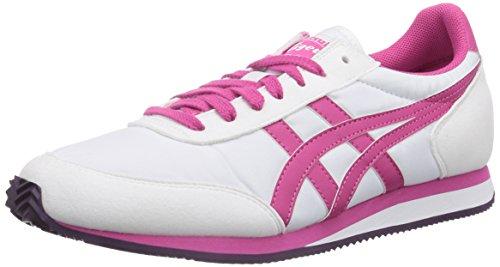 Asics Sakurada, Chaussures de trail mixte adulte - Blanc (0118-White/Fuchsia Purple), 39.5 EU (7 US)