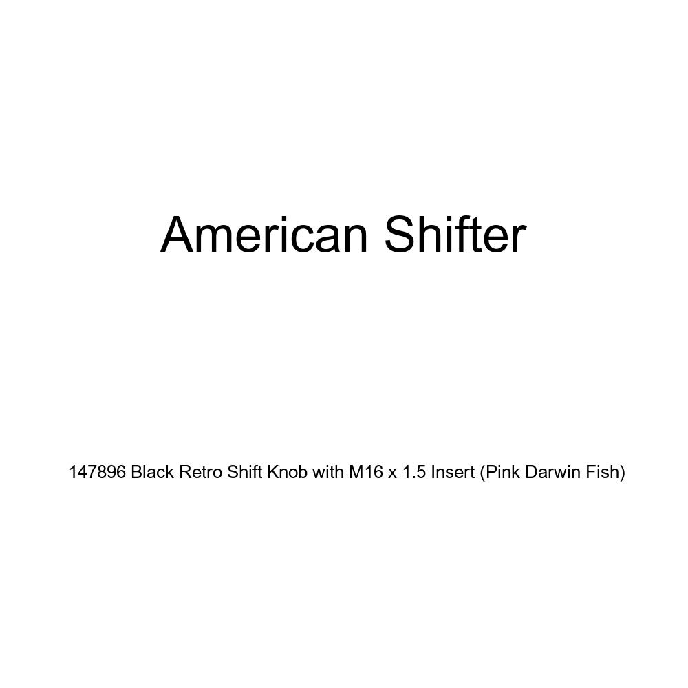 American Shifter 147896 Black Retro Shift Knob with M16 x 1.5 Insert Pink Darwin Fish