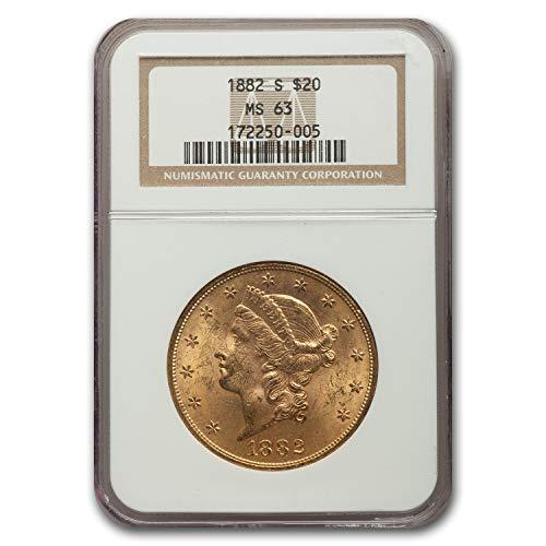 1882 S $20 Liberty Gold Double Eagle MS-63 NGC G$20 MS-63 NGC