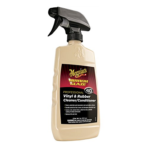 Meguiar's M40 Mirror Glaze Vinyl & Rubber Cleaner & Conditioner - 16 (Meguiars Fine Cut Cleaner)