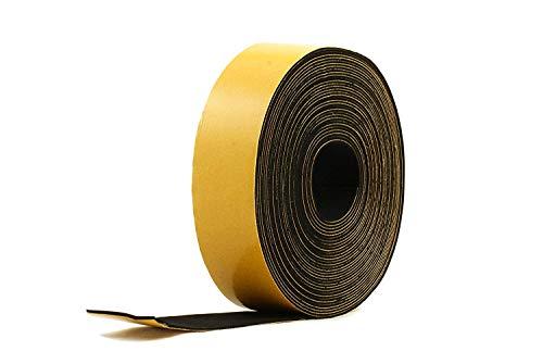 "Neoprene Rubber self adhesive strip 1 1/2"" wide x 1/16"" thick x 33 feet long"