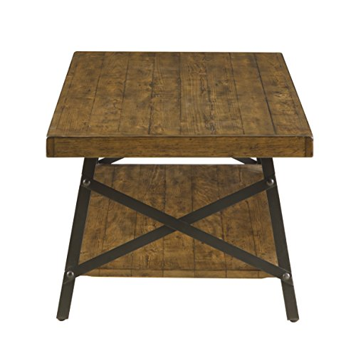 Emerald Home Chandler Rustic Industrial Solid Wood And