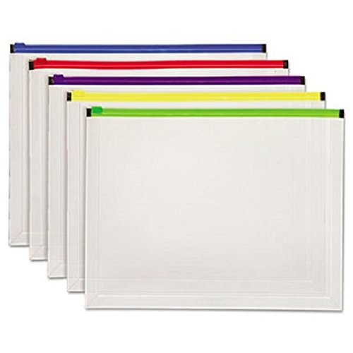 Open Mailer Side Expansion (Poly Zip Envelope, 10 X 13, Open Side, Assorted, 5/pack)