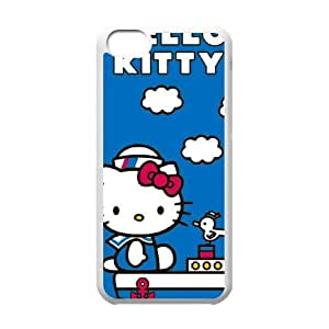 iPhone 5c Cell Phone Case White Hello Kitty Sailing X1L1JL