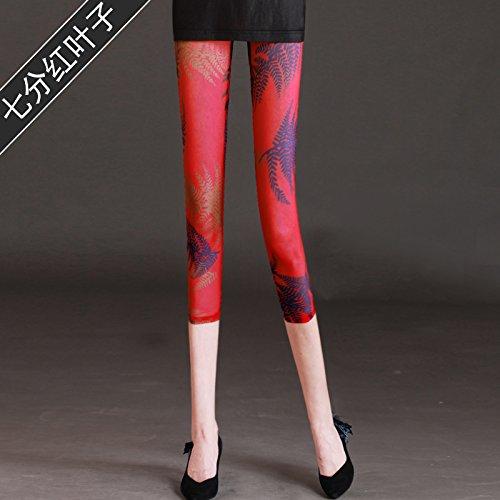 GaoXiao tissus à point de gaze, slips, les pantalons, neuf paires de pantalons, de sécurité pantalon et lumière preuve pantalon,l sept feuilles rouges