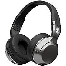 Skullcandy Hesh 2 Bluetooth Wireless Over-Ear Headphones with Microphone, Supreme Sound and Powerful Bass, 15-Hour Rechargeable Battery, Soft Synthetic Leather Ear Cushions, Black/Silver
