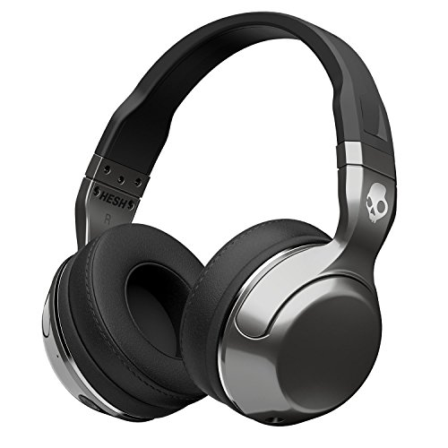 Skullcandy Hesh 2 Bluetooth Wireless Over-Ear Headphones with Microphone, Supreme Sound and Powerful Bass, 15-Hour Rechargeable Battery, Soft Synthetic Leather Ear Cushions, - Bluetooth Ear Over Headphones