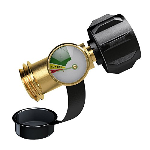 GASPRO Propane Tank Gauge Level Indicator/Leak Detector for QCC1 Propane Tank,Heater,Grill and Other Propane Appliance-100% Solid Brass Heavy-Duty by GASPRO