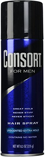 Consort For Men Hair Spray Aerosol Unscented Extra Hold 8.30 oz (Pack of 12) by Unilever Bestfoods