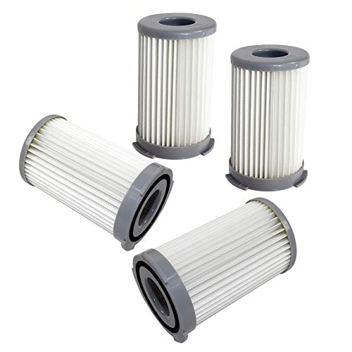 HQRP Dust Cup Filter (4-Pack) for Eureka DCF-23 / DCF23 / 68947 Replacement fits Eureka 940A, 940A-1, 940A1 Pet Lover Canister Vacuum Cleaner + HQRP Coaster
