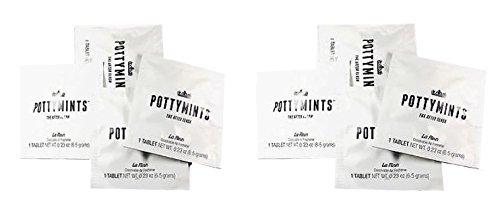 PottyMints Le Fleur Travel Bathroom Toilet Odor Eliminator Air Freshener Tablets 8 Pack White