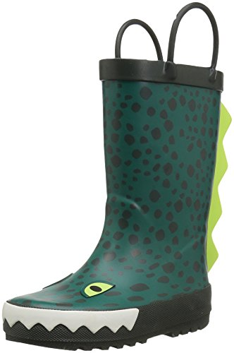 carter's Boys' Ryker Rain Boot, Green, 7 M US -