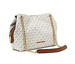 Michael Kors Medium Chain Messenger Vanilla Signature Bag