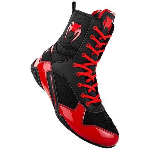 Venum Elite Boxing Shoes - Black/Red - Size 10 (44)
