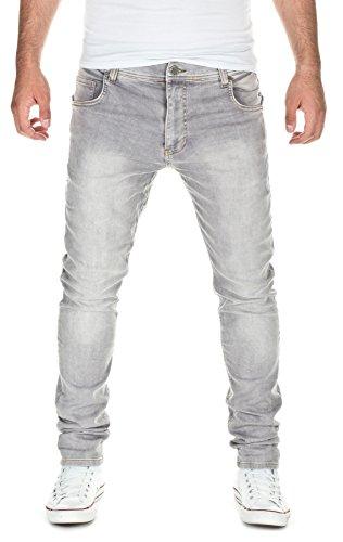 Yazubi Herren Sweat Jeans Slim Fit, light grey (10063), W30/L34