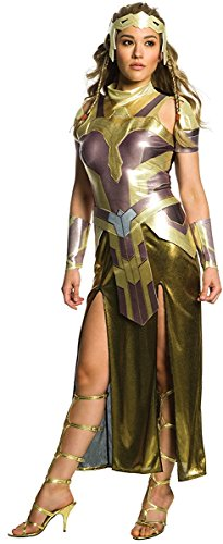 Wonder Woman Costume Makeup (Rubie's Costume Co. Women's Wonder Woman Movie Deluxe Hippolyta Costume, As Shown, Large)