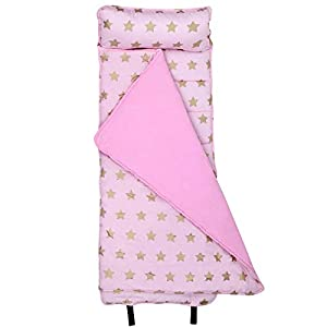 Wildkin Original Nap Mat, Features Built-in Blanket and Pillow, Perfect for Daycare and Preschool or Napping On-The-Go – Stars