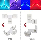 LED Strip Connector Kit for 5050 10mm 4Pin,Includes