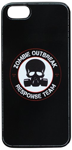 Graphics and More Zombie Outbreak Response Team Gasmask Skull Red Snap-On Hard Protective Case for iPhone 5/5s - Non-Retail Packaging - Black