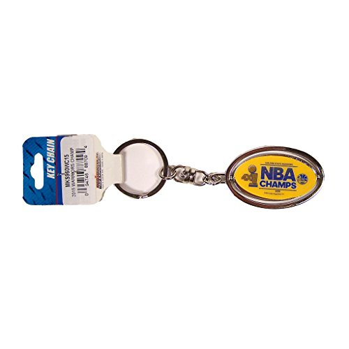 Golden State Warriors Official NBA 2 inch 2015 NBA Finals Champions Metal Spinner Key Chain Keychain by Rico Industries 887094